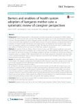 Barriers and enablers of health system adoption of kangaroo mother care: A systematic review of caregiver perspectives