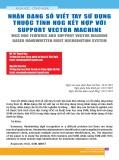 Nhận dạng số viết tay sử dụng thuộc tính HOG kết hợp với support vector machine