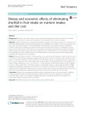 Dietary and economic effects of eliminating shortfall in fruit intake on nutrient intakes and diet cost