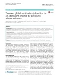 Transient global ventricular dysfunction in an adolescent affected by pancreatic adenocarcinoma