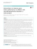 Interventions to improve gross motor performance in children with neurodevelopmental disorders: A meta-analysis