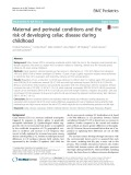 Maternal and perinatal conditions and the risk of developing celiac disease during childhood