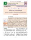 Effect of drinking water having high F level on livestock health in Mansa and Bathinda districts of Punjab, India