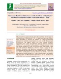 Influence of plant growth substances and bio-fertilizers on physiological parameters of vegetable cowpea [Vigna unguiculata (L.) Walp]