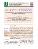 Influence of sowing techniques and seed rate on growth and yield of direct seeded rice (Oryza sativa L.) under rainfed medium land situation