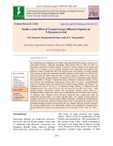 Studies on the effect of treated sewage effluent irrigation on N dynamics in soil