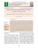 Temporal trend analysis of climatic parameters of Savitri basin