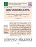 Correlation and path coefficient analysis for yield contributing parameters in chrysanthemum (Dendranthema grandiflora Tzvelev)