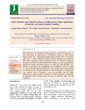 Yield attributes and yield of urdbean as influenced by foliar application of salicylic acid under rainfed condition