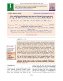 Effect of different packaging materials and storage temperatures on storage life of Tuberose (Polianthes tuberosa L.) cv. Bidhan Rajini – 1
