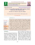On farm assessment of direct seeded rice (DSR) technology in humid south-eastern plain of Rajasthan, India