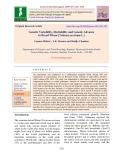 Genetic variability, heritability and genetic advance in bread wheat [Triticum aestivum L.]