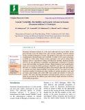 Genetic variability, heritability and genetic advance in sesame (Sesamum indicum L) genotypes