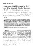 Nghiên cứu một số biện pháp kỹ thuật nhân giống vô tính cây chè vằng (Jasminum subtriplinerve Blume.) tại Thanh Hóa