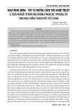 Giao thoa Đông - Tây và những cách tân nghệ thuật của nhà văn Hoàng Ngọc Phách trong tiểu thuyết tố tâm