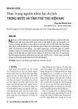 Thực trạng nguồn nhân lực du lịch trong nước và tỉnh Phú Thọ hiện nay