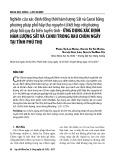 Nghiên cứu xác định đồng thời hàm lượng sắt và canxi bằng phương pháp phổ hấp thụ nguyên tử kết hợp với phương pháp hồi quy đa biến tuyến tính - ứng dụng xác định hàm lượng sắt và canxi trong rau Chùm ngây tại tỉnh Phú Thọ