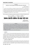 """""""Nguyên lý tính mẫu"""" trong truyền thống văn học Việt Nam"""