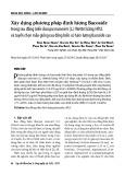 Xây dựng phương pháp định lượng Bacoside trong rau đắng biển Bacopa monnieri (L.) Wettst bằng HPLC và tuyển chọn mẫu giống rau đắng biển có hàm lượng Bacoside cao