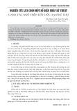 Nghiên cứu lựa chọn một số biện pháp kỹ thuật canh tác ngô trên đất dốc tại Phú Thọ