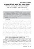 """Tìm hiểu và vận dụng phương pháp """"bàn tay nặn bột"""" vào giờ thảo luận trong giảng dạy học phần Tâm lý học đại cương"""