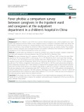 Fever phobia: A comparison survey between caregivers in the inpatient ward and caregivers at the outpatient department in a children's hospital in China
