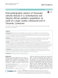Echocardiographic pattern of rheumatic valvular disease in a contemporary subSaharan African pediatric population: An audit of a major cardiac ultrasound unit in Yaounde, Cameroon