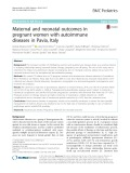 Maternal and neonatal outcomes in pregnant women with autoimmune diseases in Pavia, Italy