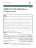 Acute and preventive management of anaphylaxis in German primary school and kindergarten children