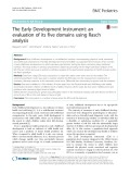 The Early Development Instrument: An evaluation of its five domains using Rasch analysis
