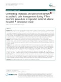 Comforting strategies and perceived barriers to pediatric pain management during IV line insertion procedure in Uganda's national referral hospital: A descriptive study