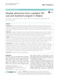 Hospital admissions from a pediatric HIV care and treatment program in Malawi