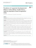 Prevalence of suspected developmental delays in early infancy: Results from a regional population-based longitudinal study