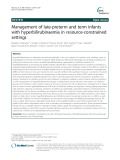 Management of late-preterm and term infants with hyperbilirubinaemia in resource-constrained settings