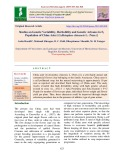 Studies on genetic variability, heritability and genetic advance in F4 population of china aster [Callistephus chinensis L. (Nees.)]