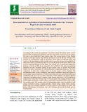 Determination of agricultural mechanization parameters for western region of Uttar Pradesh, India