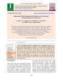 Integrated weed management practices on growth and floral parameters in tuberose