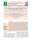 Effect of fertigation and foliar application of nutrients on yield and quality of french bean (Phaseolus vulgaris L.)