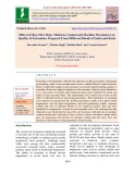 Effect of mass flow rate, moisture content and machine parameters on quality of extrudates prepared from different blends of Sattu and Kodo