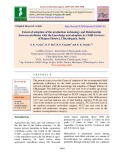 Extent of adoption of the production technology and relationship between attributes with the knowledge and adoption by chilli growers of Raipur district, Chhattisgarh, India
