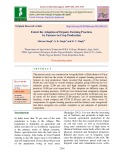 Extent the adoption of organic farming practices by farmers in crop production