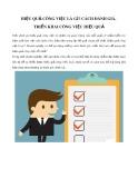 Hiệu quả công việc là gì? Cách đánh giá, triển khai công việc hiệu quả