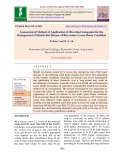 Assessment of method of application of microbial antagonist for the management of sheath rot disease of rice under green house condition