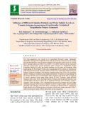 Influence of different irrigation methods and water salinity levels on tomato (Solanum lycopersicum) growth under vertisols of Tungabhadra project command