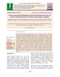 Impact of seed bed manipulations and weed management practices on growth, yield and economics of wheat under organic conditions