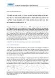 Vấn đề tranh chấp và giải quyết tranh chấp giữa nhà đầu tư và nhà nước trong hoạt động đối tác công tư tại Việt Nam: nghiên cứu tình huống dự án BOT cầu Phú Mỹ và kinh nghiệm quốc tế