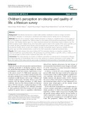 Children's perception on obesity and quality of life: A Mexican survey