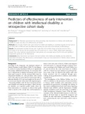 Predictors of effectiveness of early intervention on children with intellectual disability: A retrospective cohort study