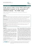 Study protocol: Effects of the THAO-child health intervention program on the prevention of childhood obesity - The POIBC study