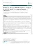Promoting effective child development practices in the first year of life: Does timing make a difference?